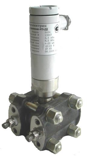 Датчик ПРОМА-ДДМ-03-10ДД-МИ-Ех, 6,3 кПА с КМЧ и 3-х вентельным блоком